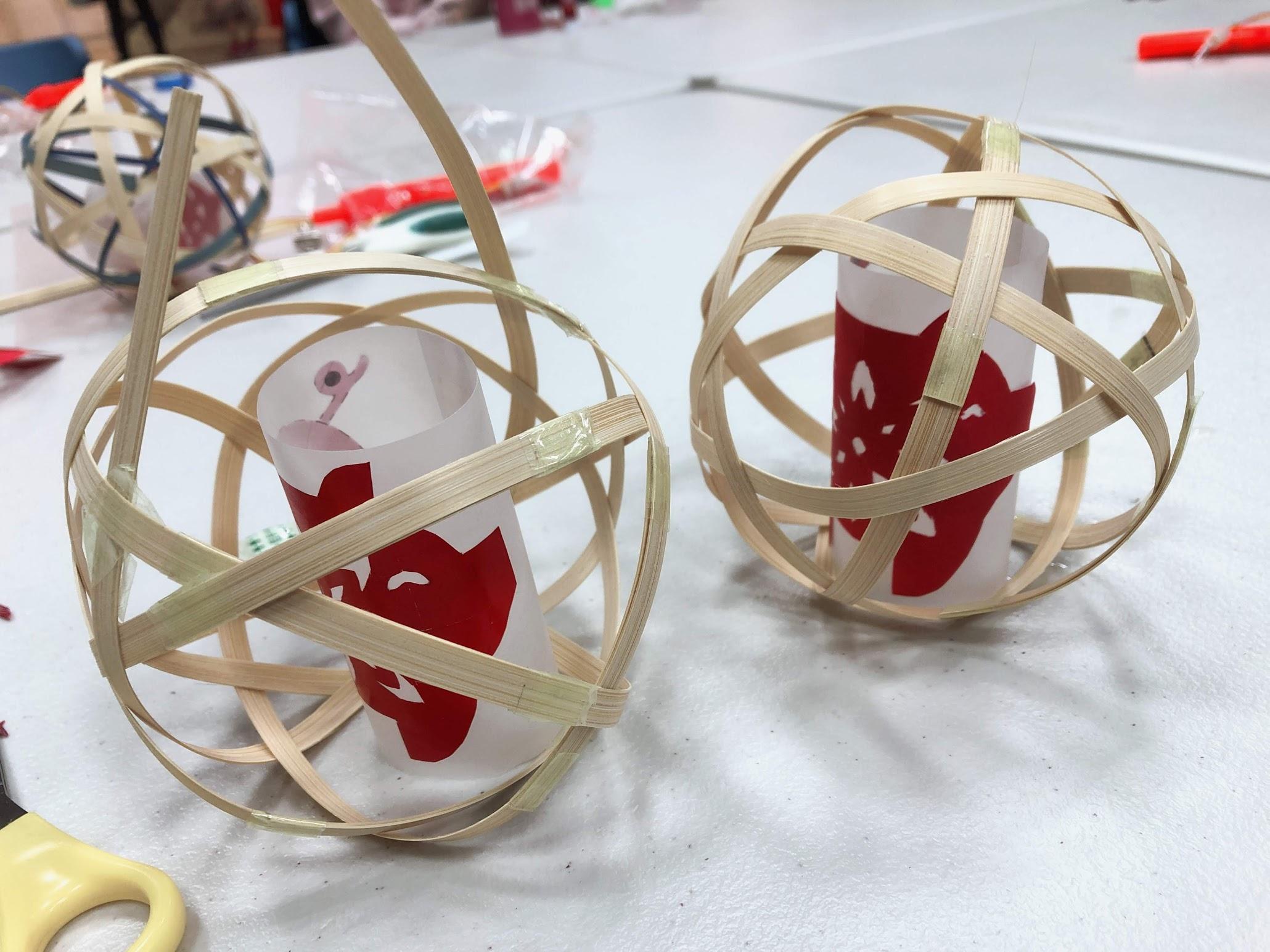 匠藏工坊手作課程-手作竹編燈籠