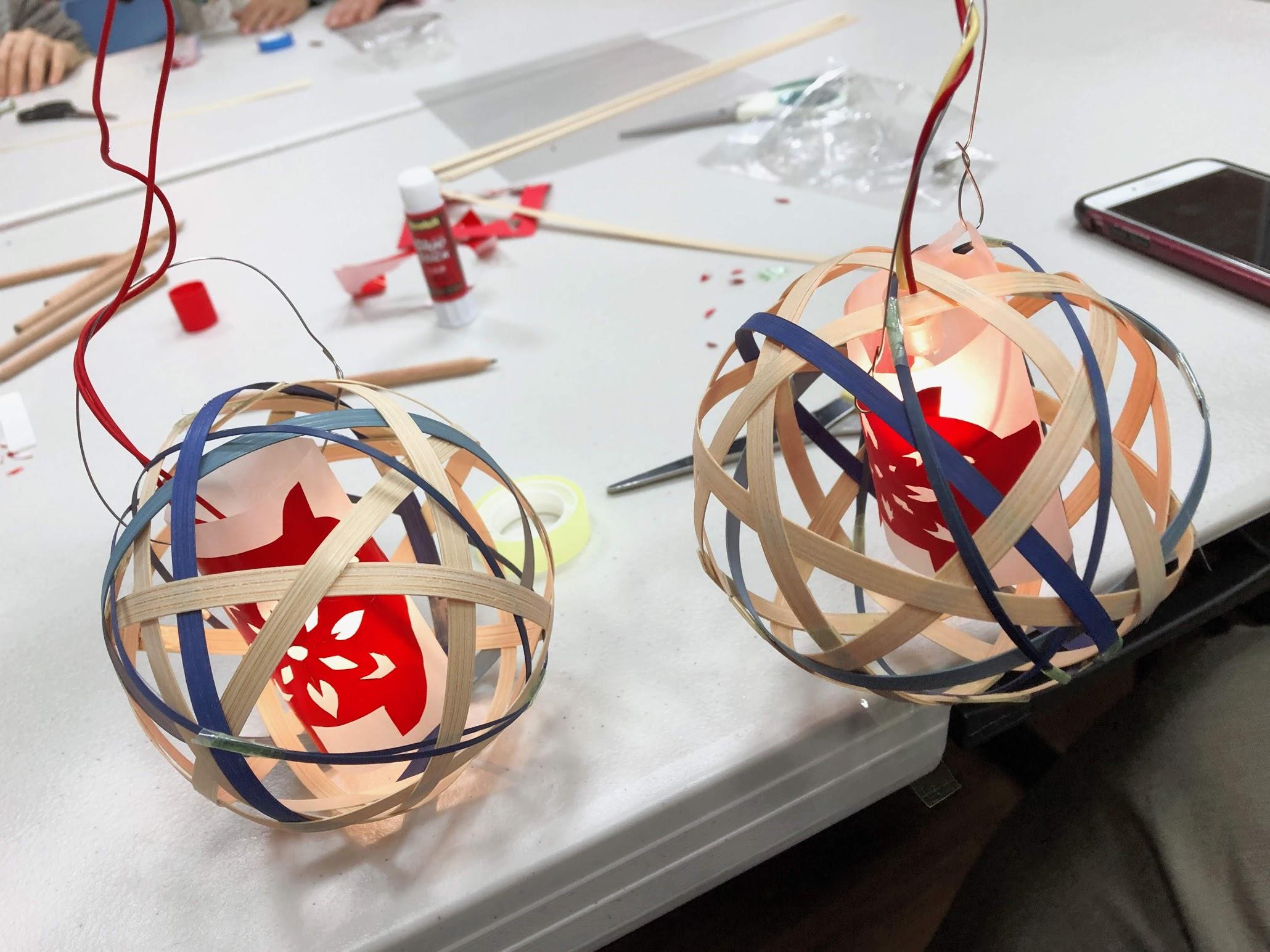 手作竹編燈籠
