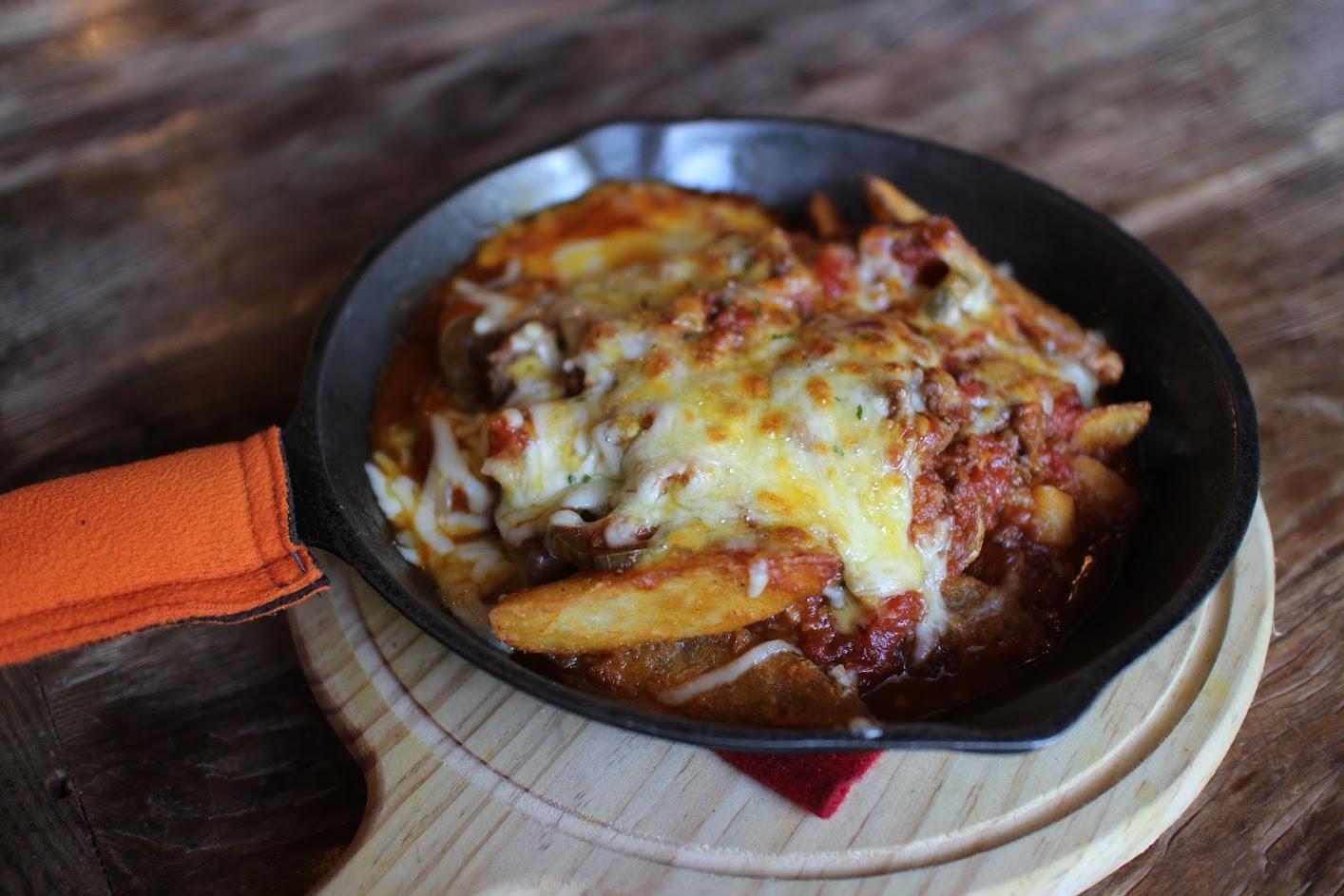 中央大學附近美食-焗烤墨西哥肉醬薯角