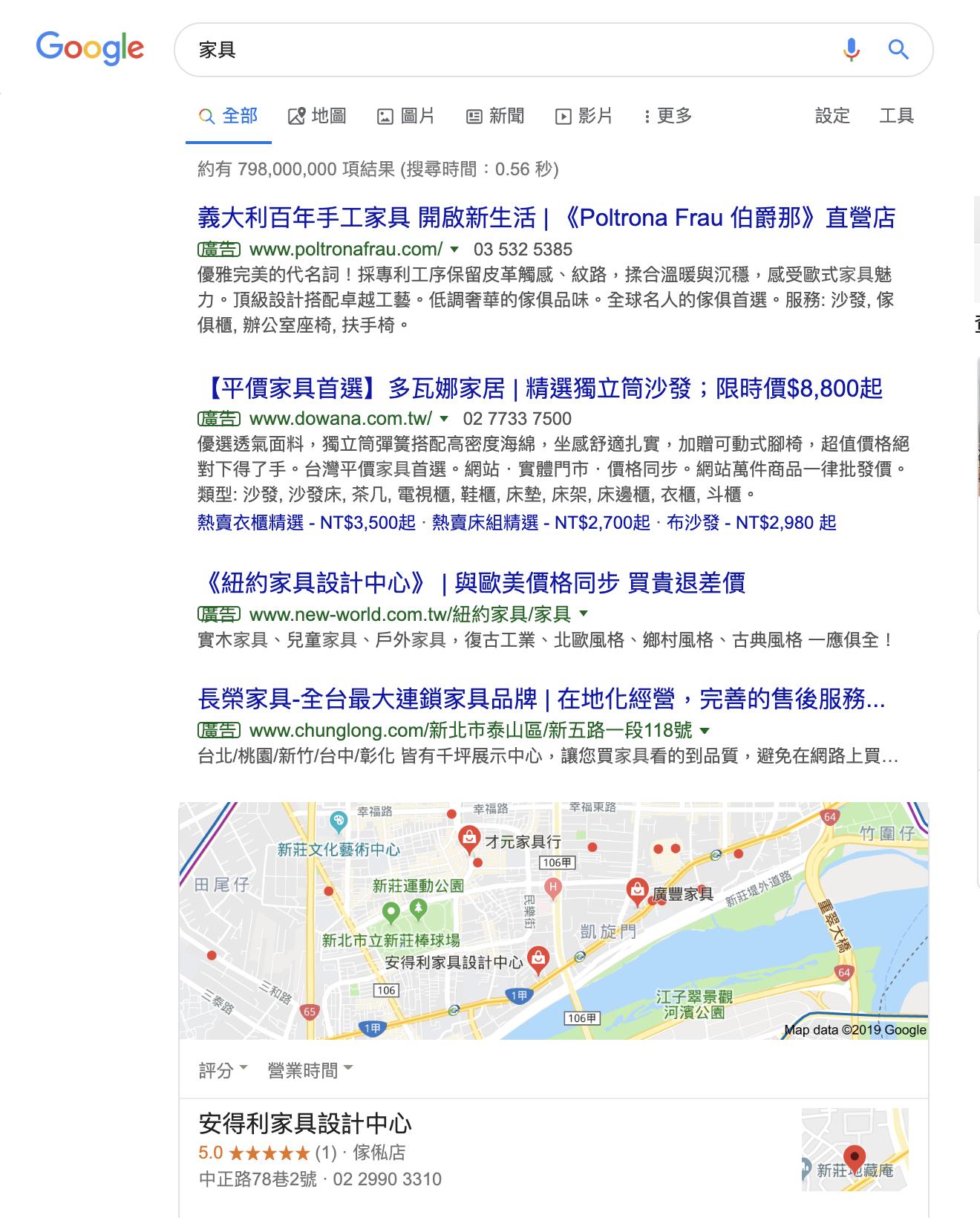 google地圖商家排名