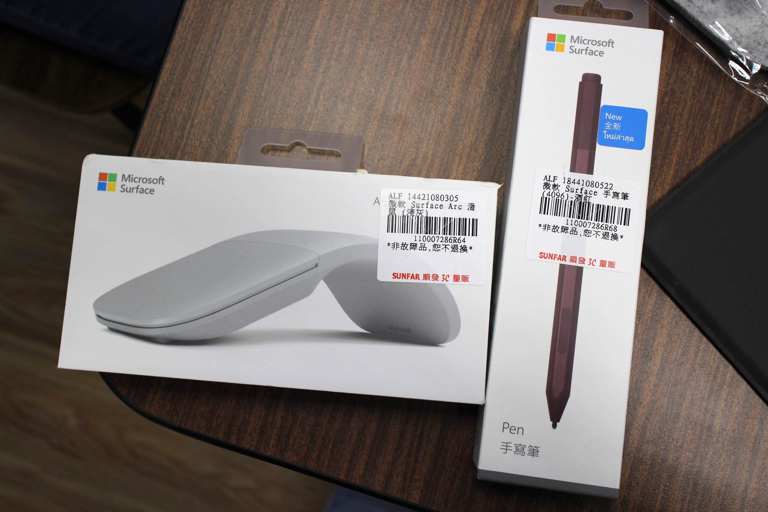 Surface Pro 6 滑鼠 手寫筆
