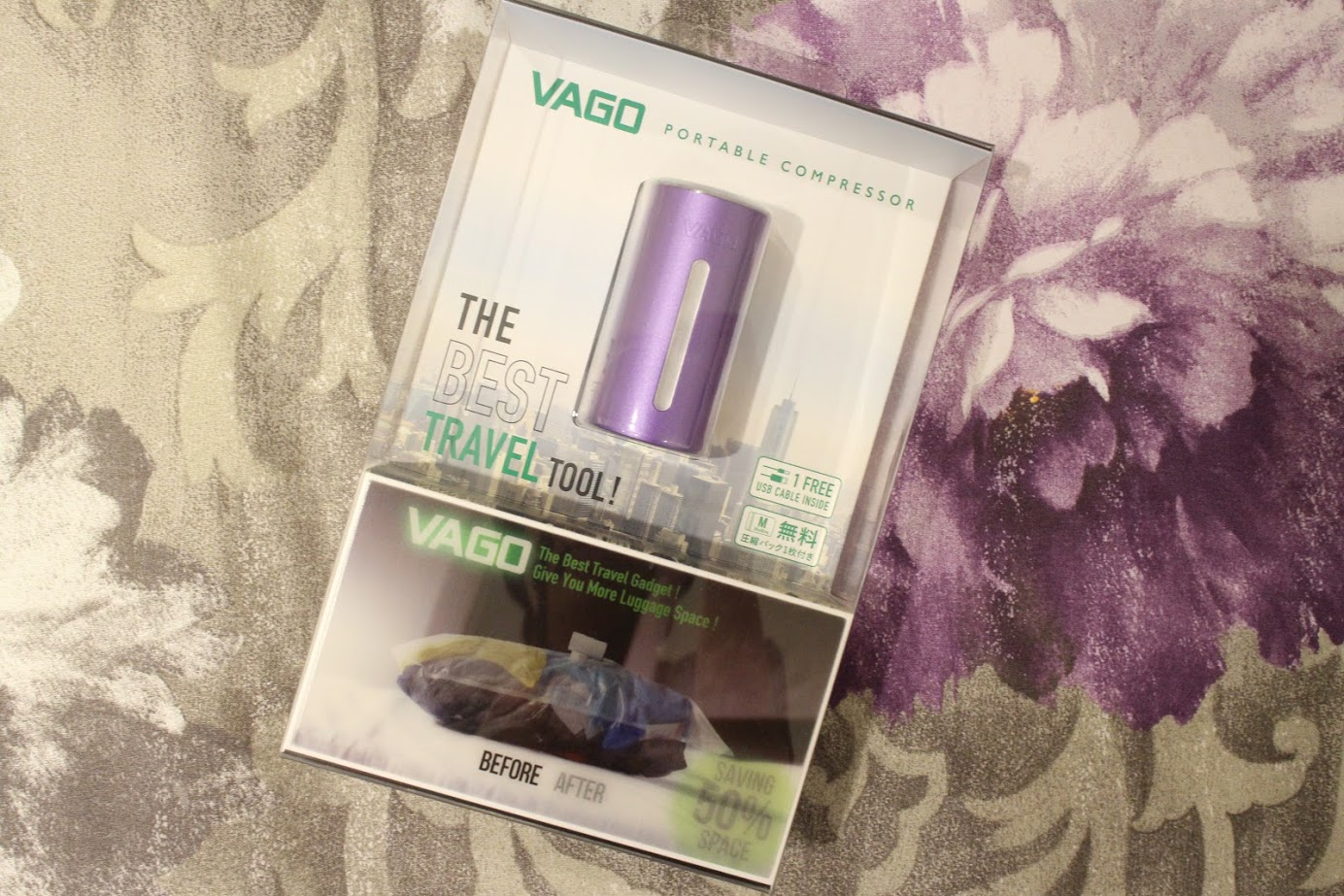 旅行必備收納【VAGO真空壓縮收納器】最輕巧真空收納器,出門收行李超方便 @秤瓶樂遊遊