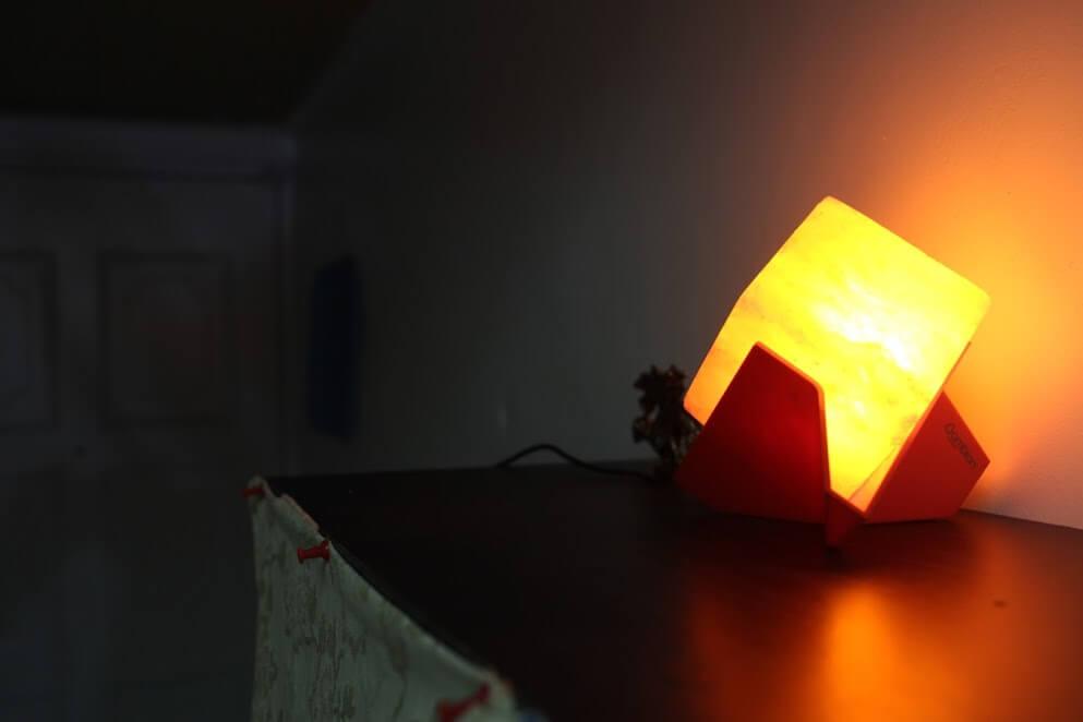 鹽燈風水擺飾【Ambion造型鹽燈推薦】美答答,喜馬拉雅玫瑰鹽晶燈 @秤瓶樂遊遊