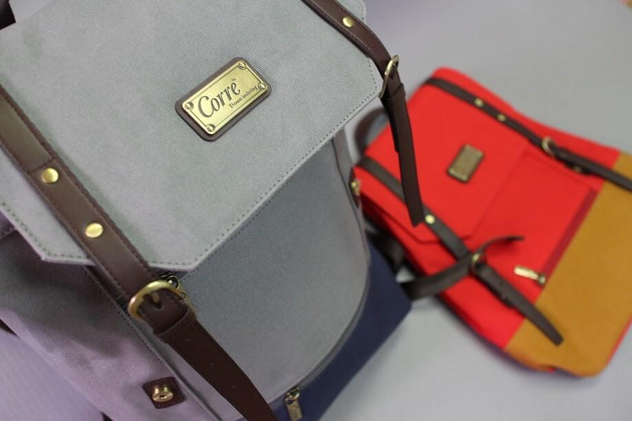 【CORRE後背包】超大容量手工帆布包、情侶包 @秤瓶樂遊遊