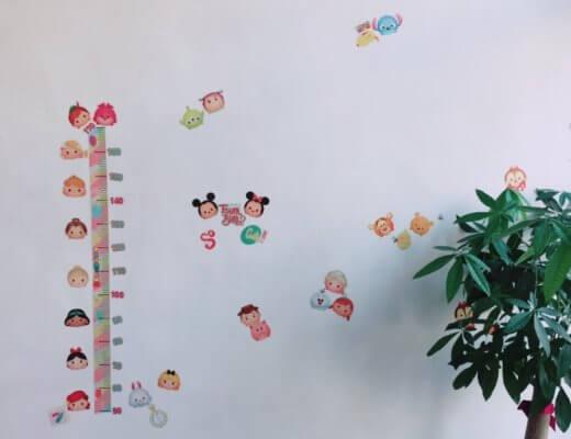 【迪士尼TsumTsum身高壁貼】itaste小品味身高貼-居家裝飾DIY @秤瓶樂遊遊