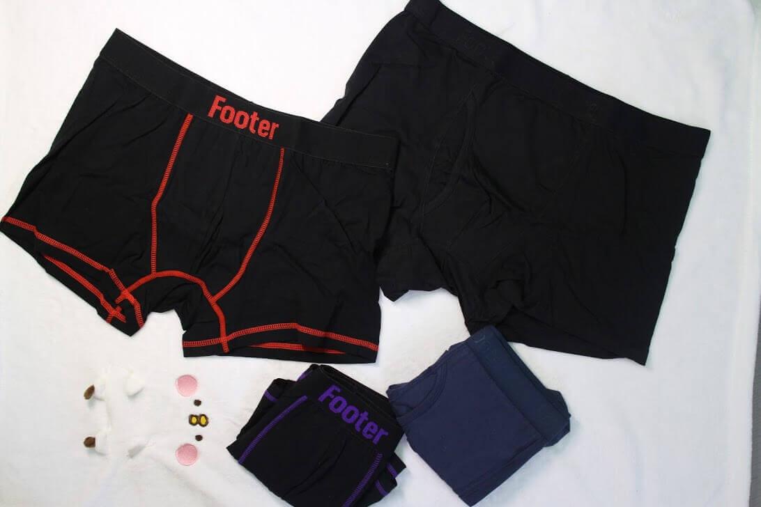 Footer男性運動內褲-機能四角褲,日本頂級抑菌棉抑菌除臭推薦 @秤瓶樂遊遊
