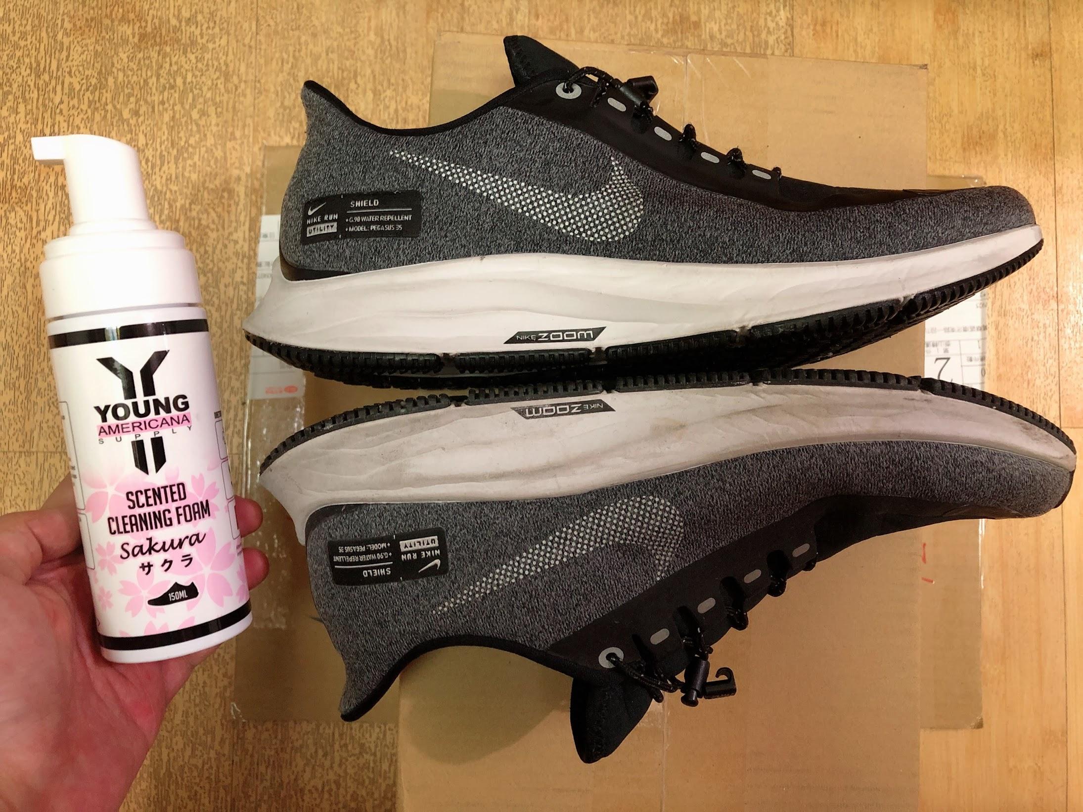 鞋子清潔-Y.A.S鞋類香氛清潔慕絲(櫻花限定版),真的是好威的鞋子清潔慕絲啊 @秤瓶樂遊遊